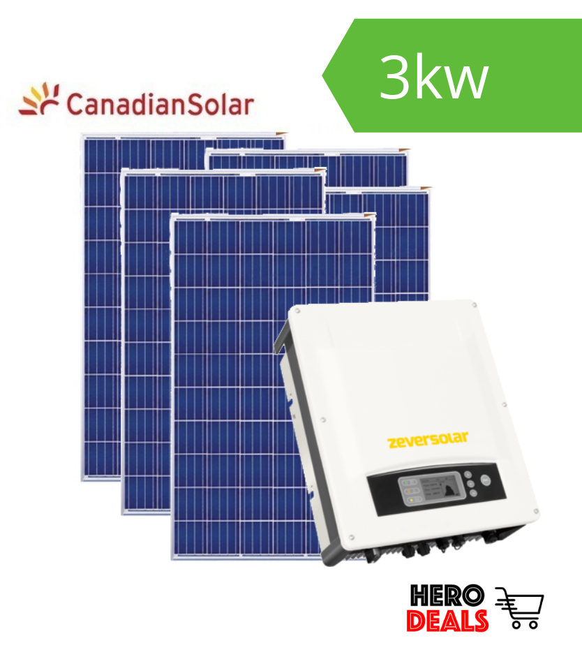 3kw Zeversolar Amp Canadian Solar Package Supplied And